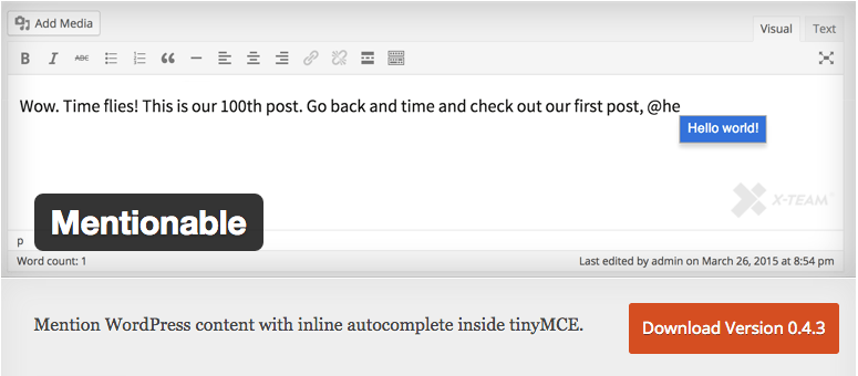 Mentionable plugin for internal links tutorial