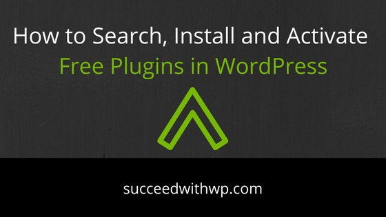 Search, Install, Activate Free Plugins